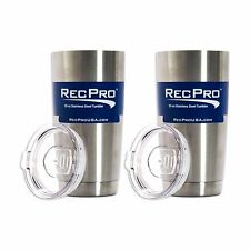 x2 RecPro 20oz Vacuum Insulated Tumbler 18/8 Stainless Steel w/ Slider Lid