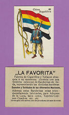 LA FAVORITA (CANARY ISLANDS) - SCARCE SILK FLAGS & SOLDIERS CARD - CHINA