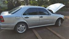 Mercedes W202 95-00 RIGHT PASSENGER FRONT SILVER DOOR SHELL ONLY NO RUST FL CAR