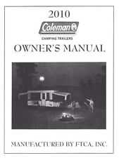 COLEMAN Trailer Owners Manual- 2010 Americana LE Sun Valley Santa Fe Cheyenne
