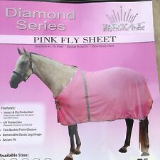 """75"""" pink horse fly sheet Royal Equine Diamond series w/bling"""
