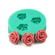 New DIY Rose Flower Silicone Clay Soap Mold Fondant Sugarcraft Cake Decorating