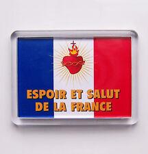 Sacré Coeur de JESUS Magnet Drapeau ESPOIR ET SALUT DE LA FRANCE