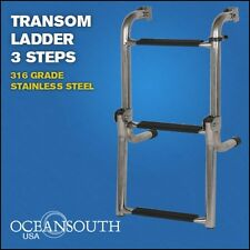 Transom Ladder Stainless Steel Folding 3 Steps