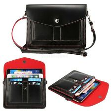Black Mobile Cell Phone Pouch Cross-body Shoulder Bag For Samsung Galaxy Note 5