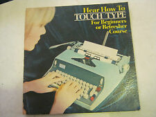 How To Touch Type, LP Album, (BD-49)