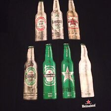 Heineken Beer T shirt Bottles through the Years Black XL Lager Pilsner Future