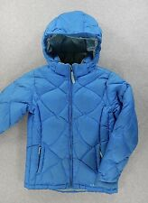 LL Bean Goose Down Quilted Jacket Coat (Boys Medium 10-12) Blue