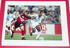 PHOTO PRO FOOTBALL 1998-1999 OLYMPIQUE MARSEILLE OM GUINGAMP BAKAYOKO BOURDEAU