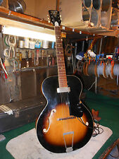 Vintage Kay archtop electric acoustic guitar Olsen Floating  pickup w'1/4 Cord