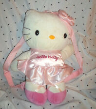 "Hello Kitty Backpack Carry Along 16""  Plush Soft Toy Stuffed Animal"