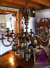 Incredible 1800s French Bronze Figural Candle Chandelier Baal~Hamon & Tanit