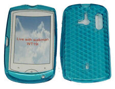 TPU Pattern Gel Case Cover SKY BLUE For Sony Ericsson Live With Walkman WT19i