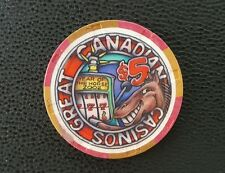great canadian chinese new year of the horse  $5 casino chip unc