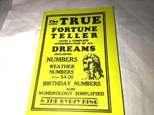The Gypsy King Dream Book - The True Fortune Teller - Book Occult Mystic Vintage