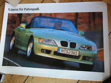 1995 BMW Z3 ROADSTER JAMES BOND 007 MOTORSPORT E 36/7 ORIGINAL POSTER PLAKAT NEU