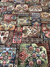 3'x 5' Traditional Wool Fireside Rug , Block Panel Design Pastel Colour ��