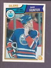 1983-84 O-Pee-Chee OPC Hockey Dave Hunter #32 Edmonton Oilers NM/MT