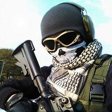 Black Seamless Skull Face Tube Mask Neck Gaiter Dust Shield Biker Cold Bandana