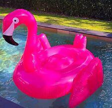 Aufblasbar PVC FLAMINGO, Schwimmreifen, Badeinsel, Luftmatratze pink 195*190*130