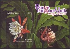 Malaysia 2008 Unique Flowers M/S MNH