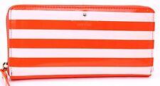 Kate Spade Lacey Harrison Street Stripe Zip Around Wallet in Blush/ORANGE