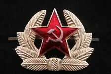NOS Soviet M69 Hat Badge Beret Spetsnaz Red Army Hammer Sickle Cap Star