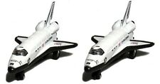 "2 x Space Shuttle NASA Replica diecast toy model Pull back and go action 5"" long"