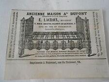 Pub 1861 - Lit en Fer et ornementés E.Lacroix Ancienne Maison A. Dupont
