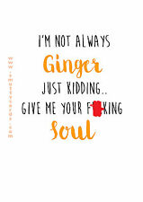 Not Always Ginger ~ Potty Mouth Cards - PM-SM-G