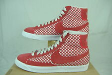 "New Mens 11.5 NIKE ""Blazer Mid Woven"" Red Gray Basketball Shoes $100"