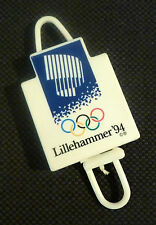 NEW Retractable Lillehammer Olympic Reel Recoil ID Badge Lanyard UNIQUE Skidata