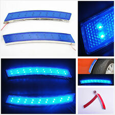 2 x 18LED Car SUV Off Road Wheel Eyebrow Side Blue Turn Signal Indication Light