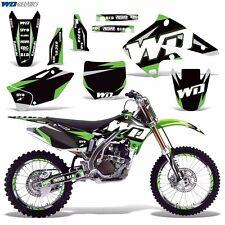 Graphic Kit Kawasaki KX250F Dirt Bike KX 250f 250 MX Moto w/Backgrounds 04-05 WD