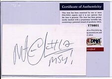 MATEEN CLEAVES PSA/DNA AUTOGRAPH 3x5 INDEX CARD AUTO MICHIGAN STATE Y78601 T981