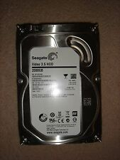 "VeryGood Condition! Seagate ST2000VM00 2TB 6GB/S 64MB Cache 24*7 3.5"" SATA3 HDD"