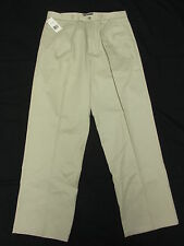 $58 NWT Mens Dockers Signature D4 Relaxed Fit Pleated Pants Stone 38x30 38 N159