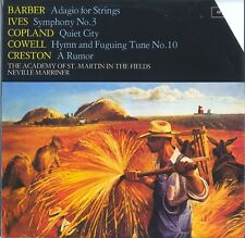 Marriner/Acad St Martin LP 'Barber/Ives/Copland/Cowell/Creston' Argo ZRG.845