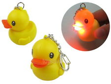 Rubber Duck Key Chain with LED Light and Sound