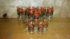 VINTAGE SEARS MERRY MUSHROOMS DRINKING GLASS TUMBLER  (B4)