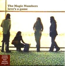 "MAGIC NUMBERS - LOVE'S A GAME - 7"" VINYL SINGLE + 4 POSTCARDS - MINT"