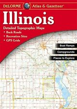 Illinois Atlas and Gazetteer by Delorme, (Paperback), DeLorme Publishing , New,