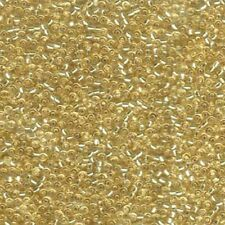 Miyuki Seed Beads 11/0 Silver Lined Pale Gold 11-2 Glass 23g Tube Size 11