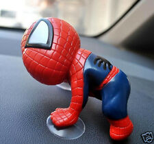 RED SPIDERMAN CAR SUCTION - DECORATIVE - USE ON ANY GLASS SURFACE AT HOME