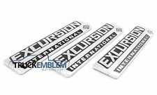 3 NEW CUSTOM CHROME FORD 7.3L 6.0L POWER STROKE EXCURSION BADGES EMBLEMS SET