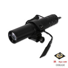 New OSLON IR 850nm  Zoomable 1 Mode Night Vision Infrared LED Flashlight Torch