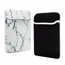 "12-Inch White Marble Reversible Sleeve Bag for 12"" Macbook / Chromebook / Laptop"
