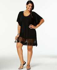 Dotti Plus Size Macrame Fringe Cover-Up, 2X