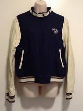 Ecko Red Womens Vintage Varsity Letterman Jacket Sz 2XL