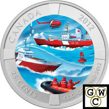 2012 'Canadian Coast Guard' Colorized 25-Cent Coin (13021)